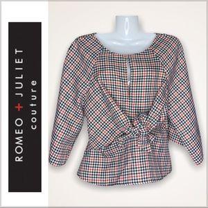 Romeo + Juliet Couture Peplum Top NWT
